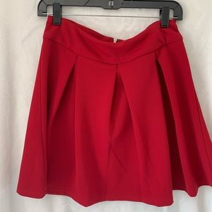 The Limited Red Skater Skirt
